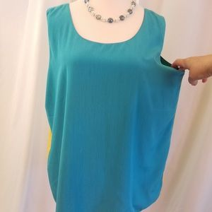 LG reversible vtg 80s sleeveless top 4 colors 14
